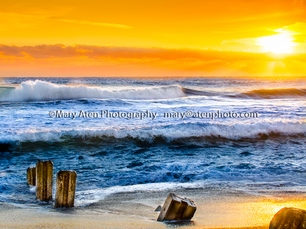 Sunset Photo Photo Of Golden Sunset With Waves And Beach