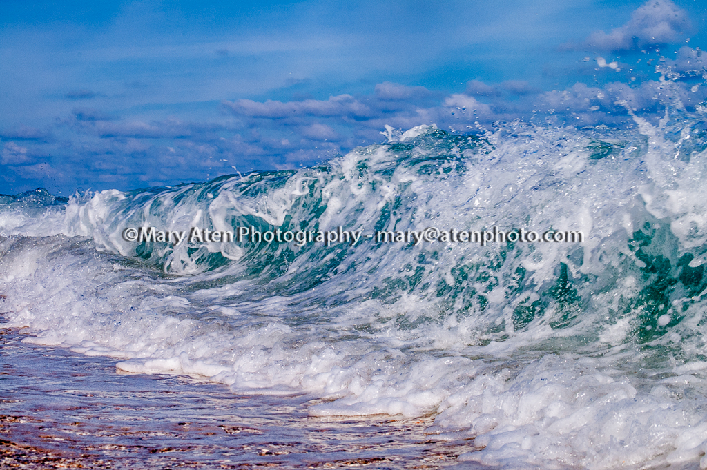 Photo Of Big Wave Hitting Shore Mary Aten Photography