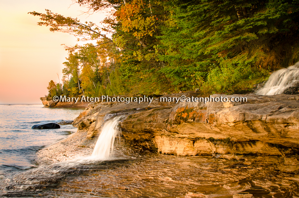 Sunset Photo Photo Of Miner Falls At Sunset In Northern