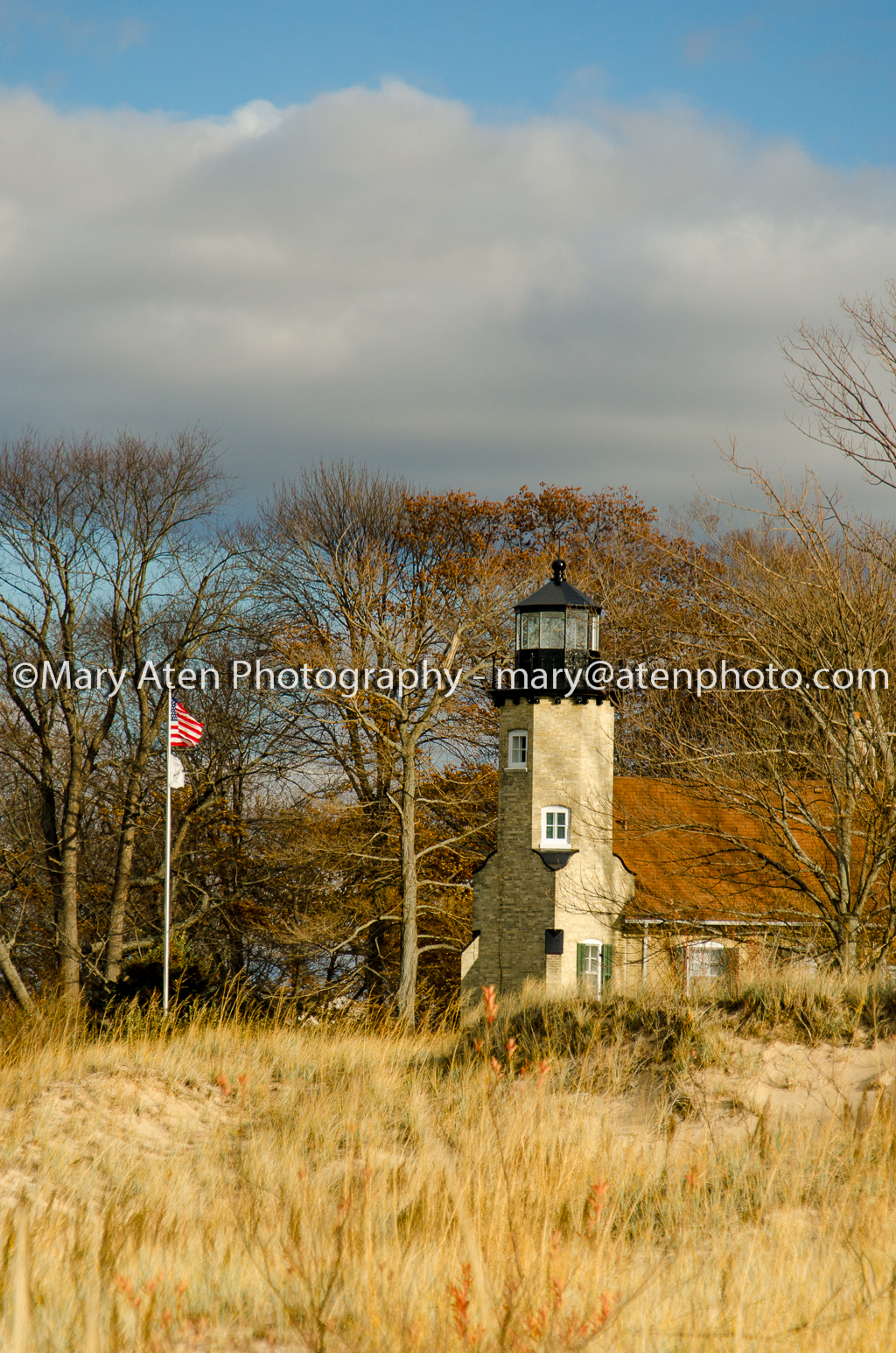 Photo Of White River Lighthouse In The Fall