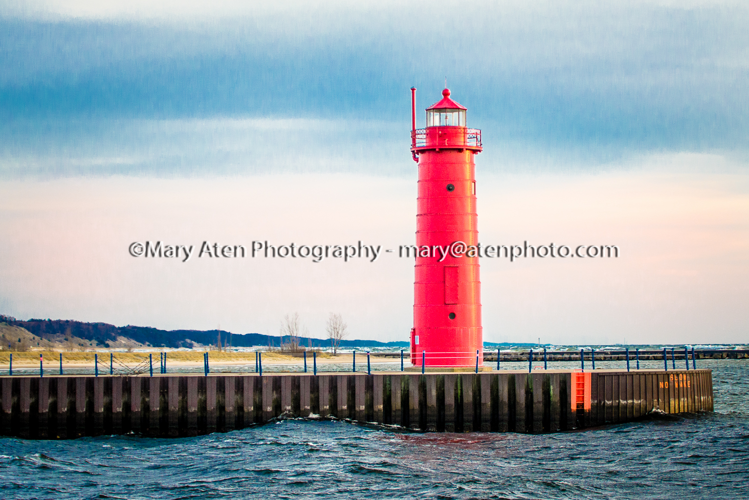 Photo Of Red Lighthouse In Muskegon Michigan Mary Aten